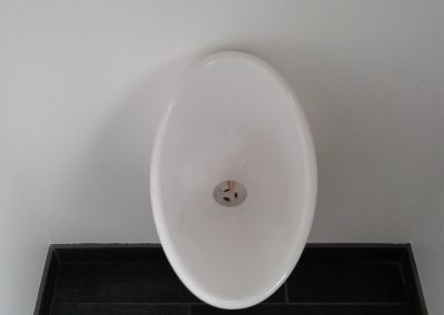 Waterless Urinal Installation